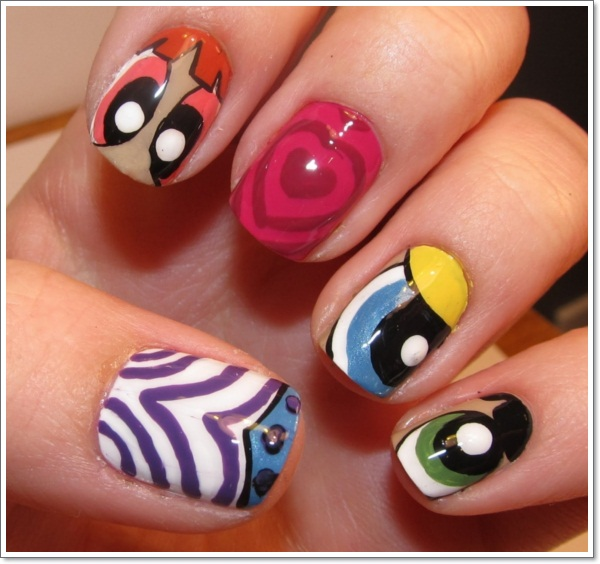 Childhood memories 17 cartoon nail art designs and how to Cool nail design ideas at home
