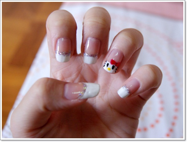Nail Tip Designs Ideas 40 cute and easy nail art designs for beginners French Tip Nail Design Ideas 396