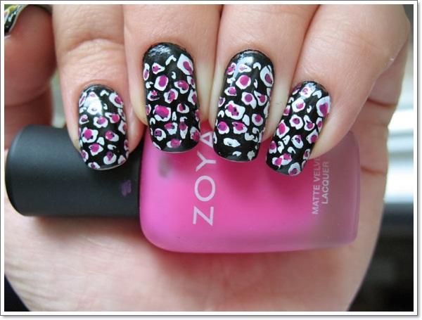 25 zebra print nails design ideas zebra and cheetah nail designs 1 prinsesfo Image collections
