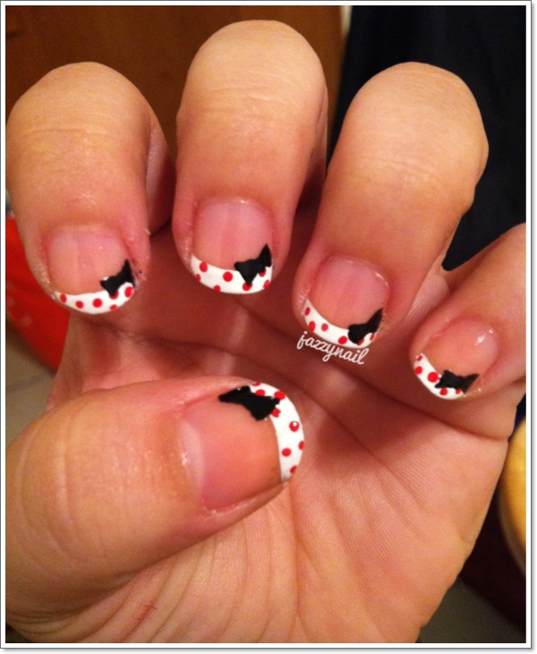 Nail Tip Designs Ideas 12 gel french tip glitter nail art designs Polka_dot_nail_designs_nail_art_style_design_inspirations