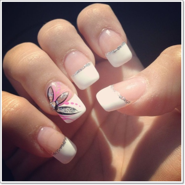 ... french tip nail designs 5 ... - 22 Awesome French Tip Nail Designs