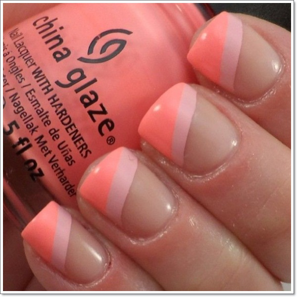 ... french tip nail designs ... - 22 Awesome French Tip Nail Designs