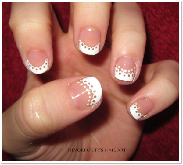 French Tip Nail Art Designs For Thanksgiving