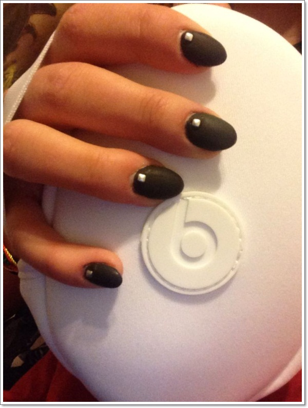 matte oval nails