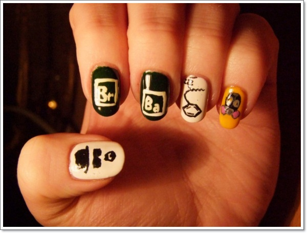Character Design Nail Art : Childhood memories— cartoon nail art designs and how to