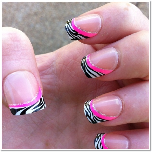25 zebra print nails design ideas pink zebra nails 1 prinsesfo Image collections