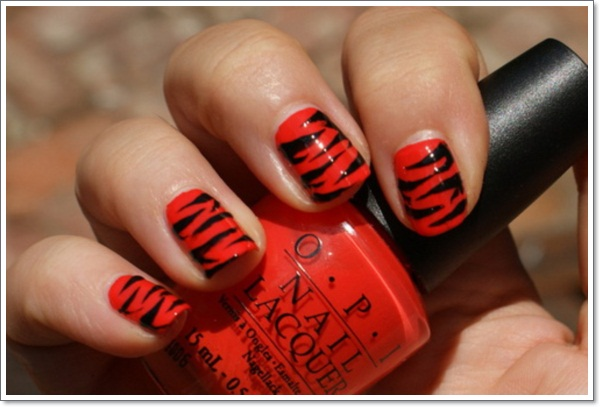 Nail Designs Zebra Stripes Zebra-print-nail-designs