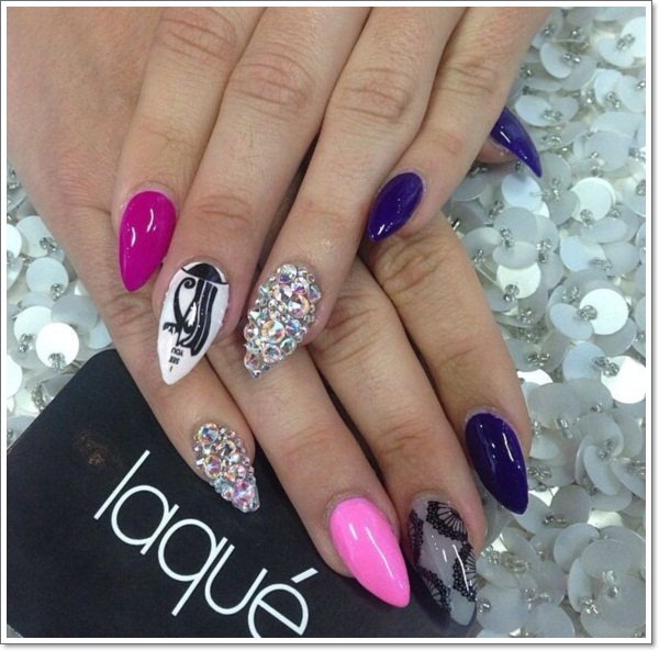48 cool stiletto nails designs to try tips stiletto nail design prinsesfo Images