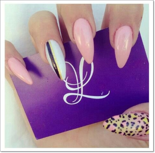 stiletto nail designs - 48 Cool Stiletto Nails Designs To Try + Tips