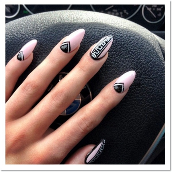 tribal Stiletto nails