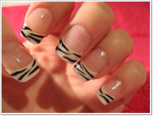 Nail Designs Ideas 50 festive christmas nail art ideas Zebra Nail Designs Ideas
