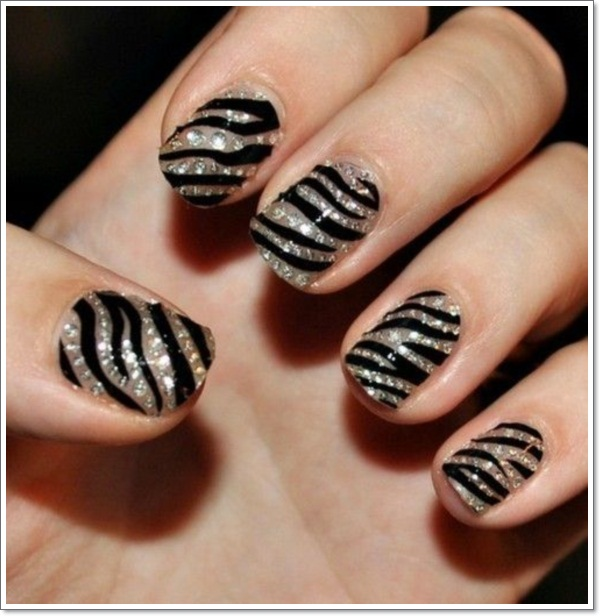 ... zebra nail designs ... - 25 Zebra Print Nails Design Ideas!