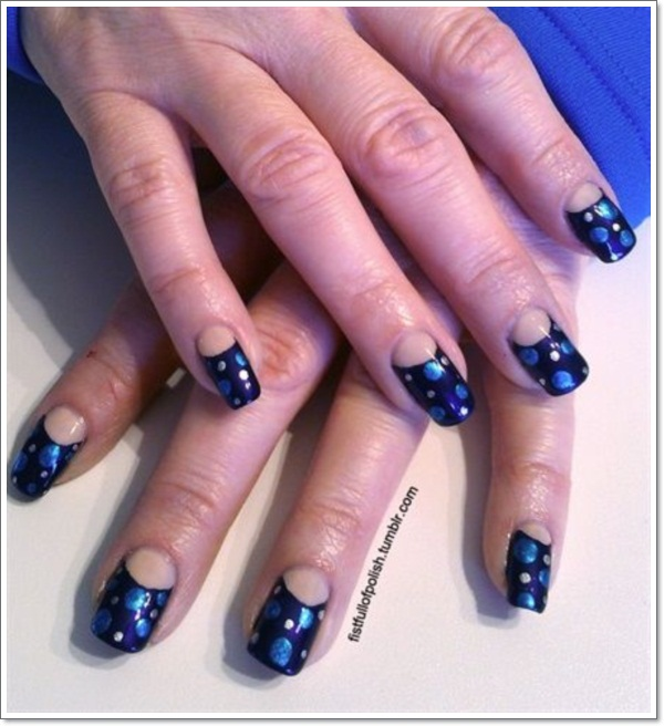 ... half moon nails 5 ... - Half Moon Manicure: Instructions & Inspiring Nail Ideas