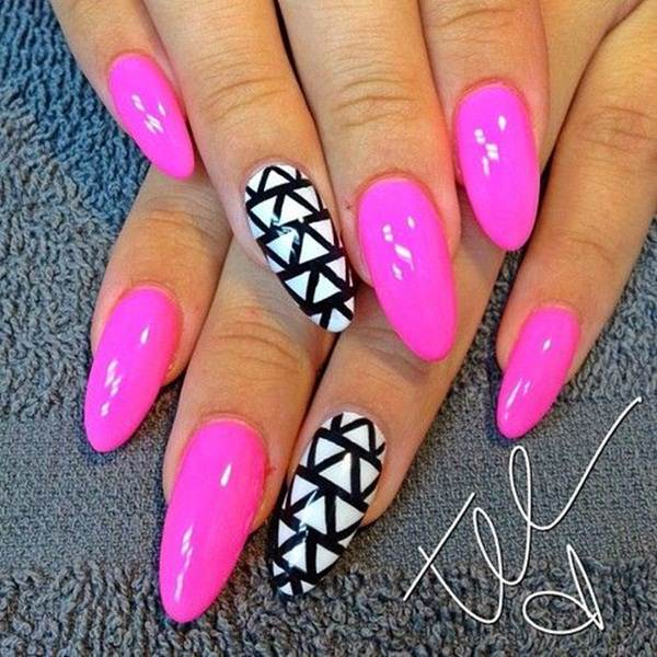 almond nails 10 - 30 Must Try Almond Nail Designs