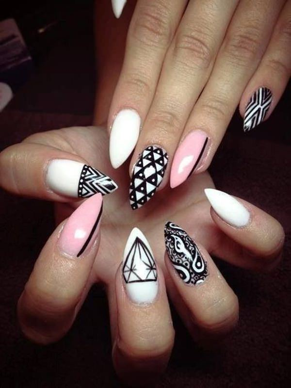 almond nails 6 - 30 Must Try Almond Nail Designs