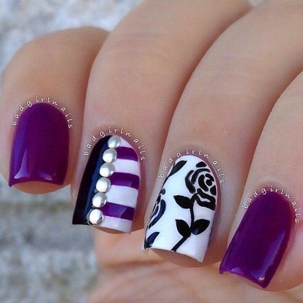black and white nail designs 1 - 50 Incredible Black And White Nail Designs