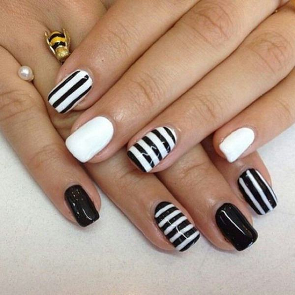 50 incredible black and white nail designs black and white nail designs 10 prinsesfo Choice Image