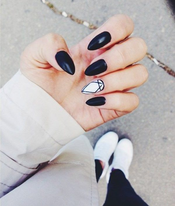 black and white nail designs 11