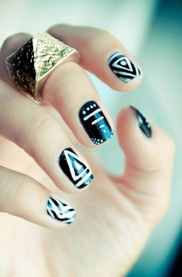 black and white nail designs 13