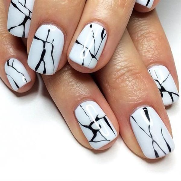 50 incredible black and white nail designs black and white nail designs 15 prinsesfo Choice Image