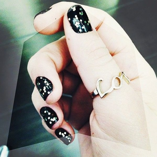 black and white nail designs 21