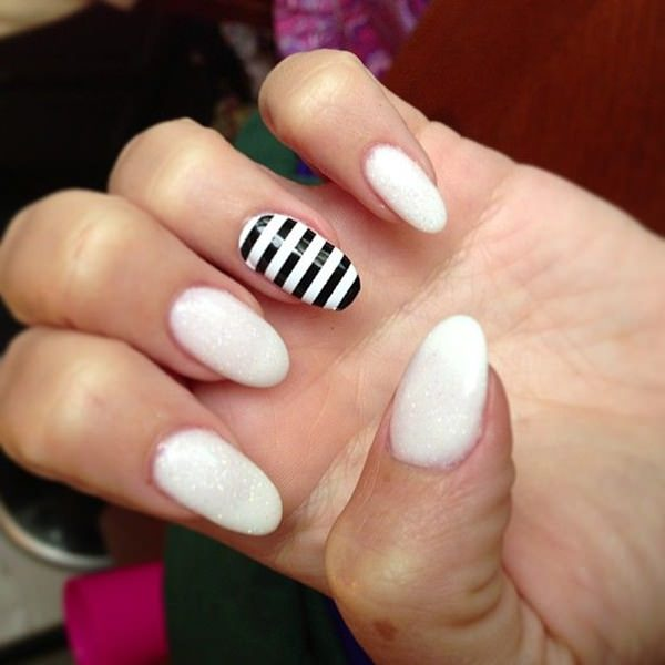 50 incredible black and white nail designs black and white nail designs 212 prinsesfo Choice Image
