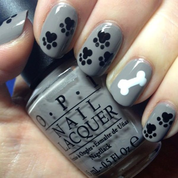 black and white nail designs 24 - 50 Incredible Black And White Nail Designs