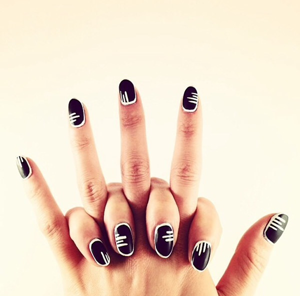 black and white nail designs 28
