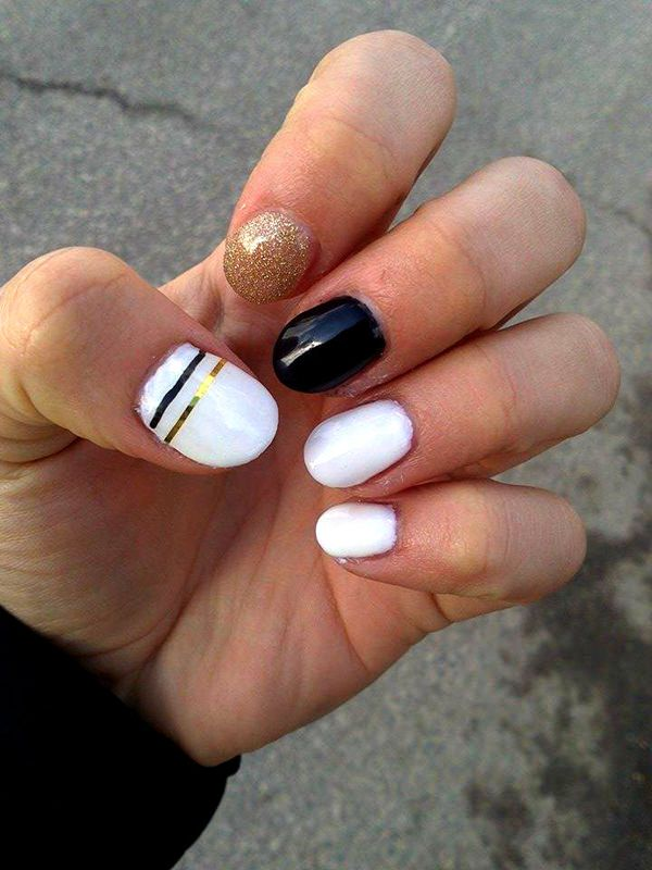 50 incredible black and white nail designs black and white nail designs 30 prinsesfo Choice Image