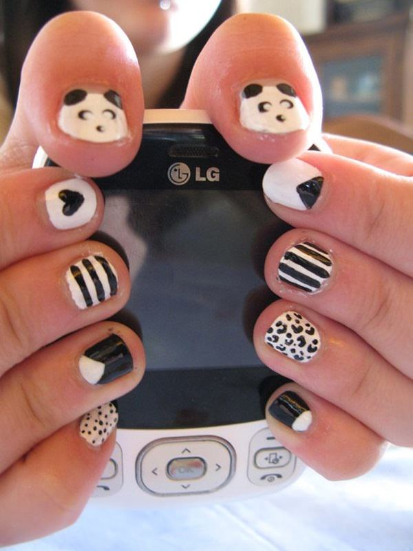 50 incredible black and white nail designs black and white nail designs 33 prinsesfo Gallery