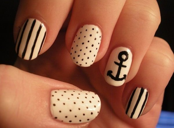 black and white nail designs 35