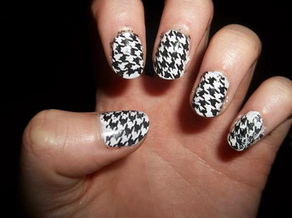50 incredible black and white nail designs black and white nail designs 36 prinsesfo Gallery