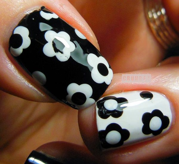 black and white nail designs 41