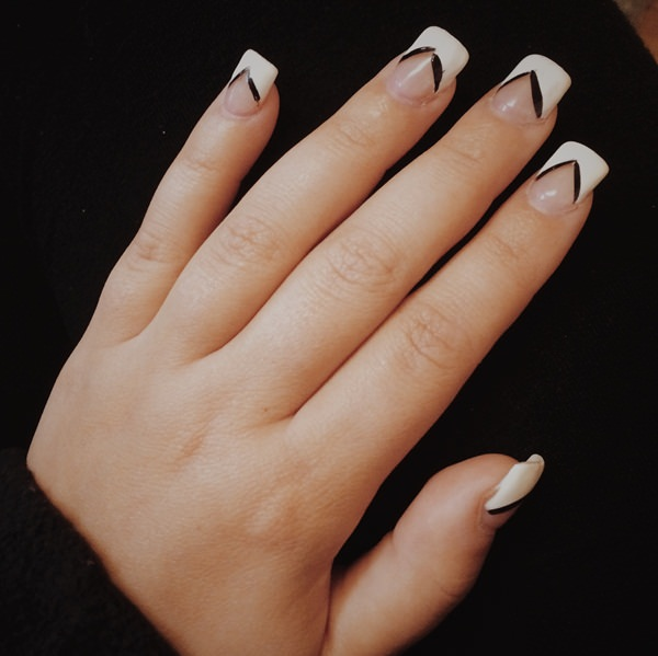 black and white nail designs 43