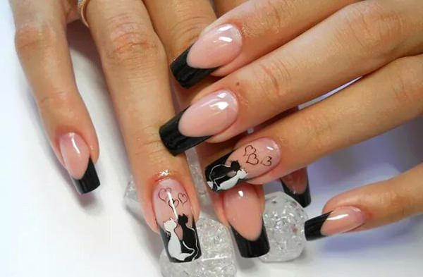black and white nail designs 46 - 50 Incredible Black And White Nail Designs