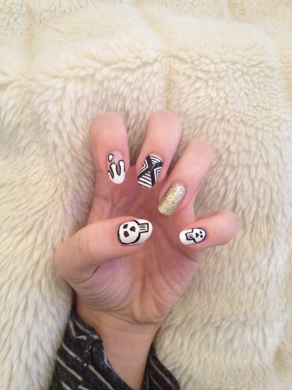 black and white nail designs 467