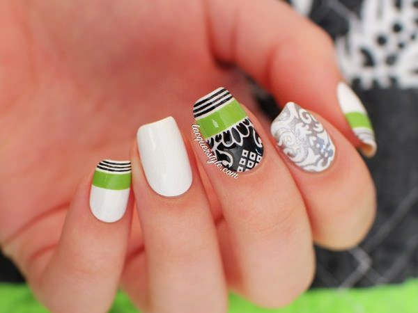 black and white nail designs 48