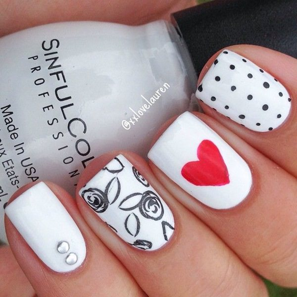 black and white nail designs 5 - 50 Incredible Black And White Nail Designs