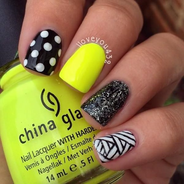 black and white nail designs 7