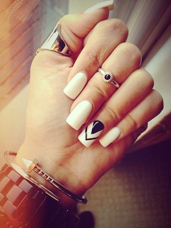 black and white nail designs 9