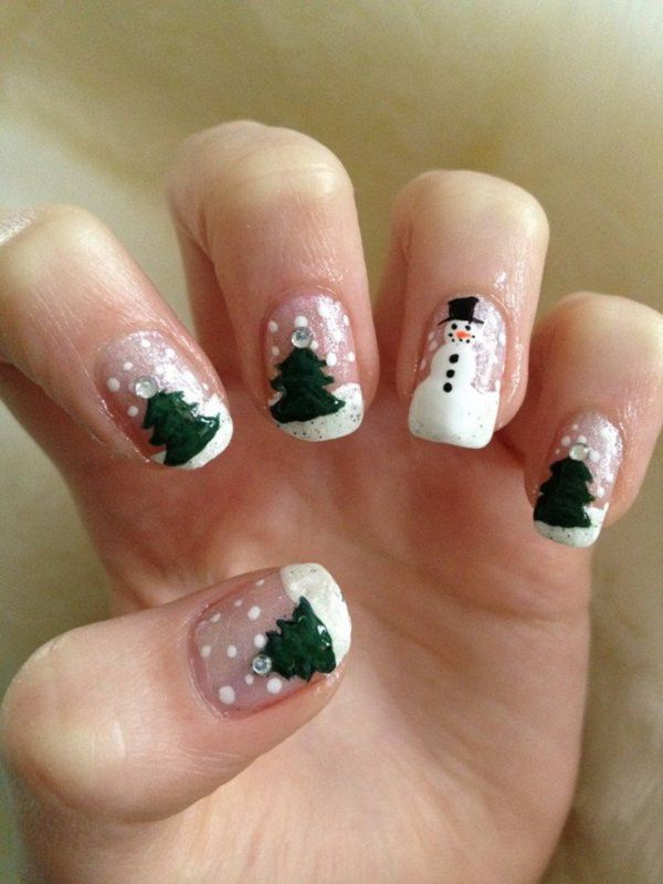 77 magical photos of festive christmas nails you will love christmas nail art 62 prinsesfo Image collections