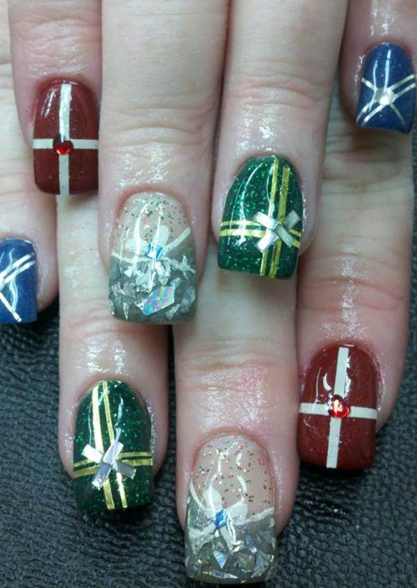 77 magical photos of festive christmas nails you will love christmas nail art 72 prinsesfo Images