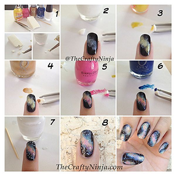 48 Stunning Galaxy Nail Designs + Video Tutorial!