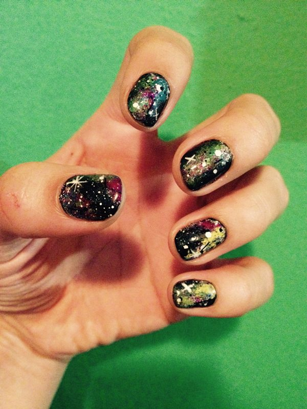 48 stunning galaxy nail designs video tutorial galaxy nails 35 prinsesfo Gallery