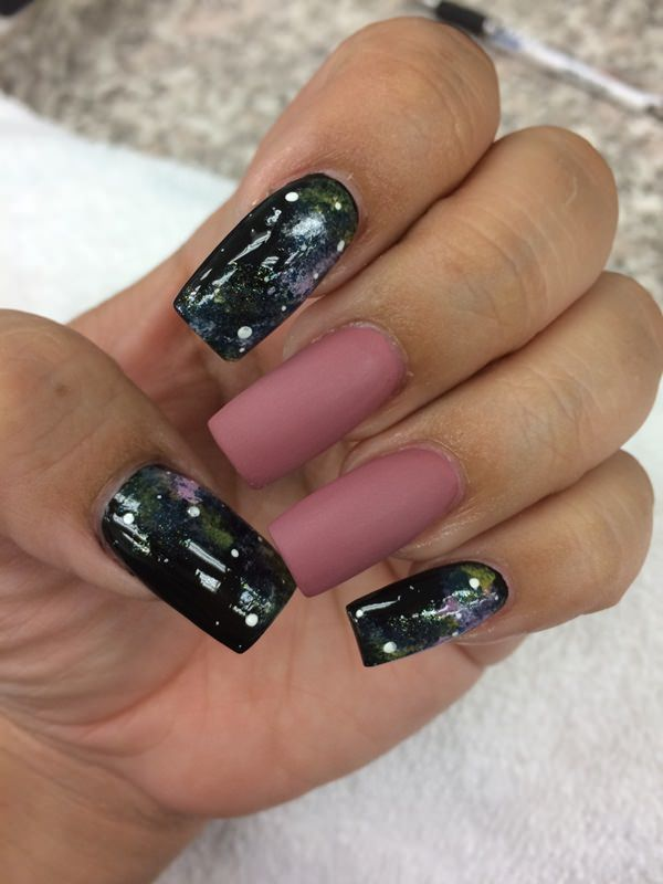 If you don't want to spend a ton of time doing every single nail with a galaxy  design (it can be time consuming especially if you're a perfectionist) then  ... - 48 Stunning Galaxy Nail Designs + Video Tutorial!