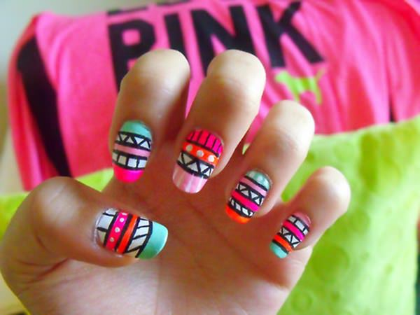 15220516-neon-nail-designs - 45 Spectacular Neon Nail Designs For 2017