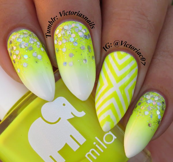 28220516-neon-nail-designs - 45 Spectacular Neon Nail Designs For 2017