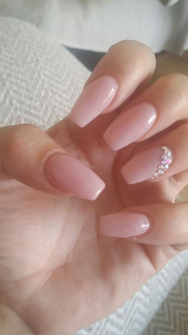 81 eye catching prom nails for your special day crystal design prom nails 02071658 prinsesfo Choice Image