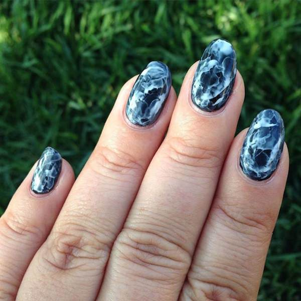 53 incredible marble art nail designs you can do at home water marble nails 02071627 prinsesfo Images