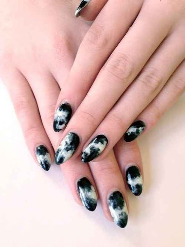 53 incredible marble art nail designs you can do at home water marble nails 02071636 prinsesfo Gallery